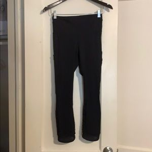 Black Lululemon 7/8 length pocket leggings